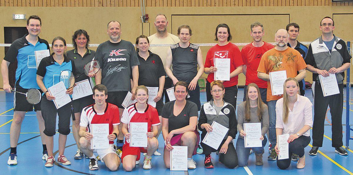 Die Teilnehmer der KMS 2017; Quelle: heidekreis-badminton.de